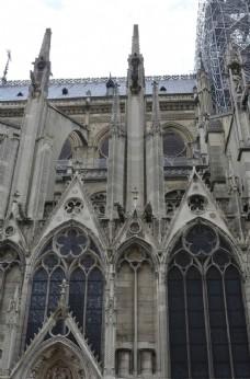 巴黎圣母院建筑雕塑细节