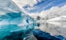 南极冰川风景