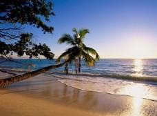 夏日唯美海滩风景