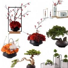 创意花卉盆栽软装饰品素材