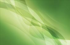 绿色渐变曲线波浪背景
