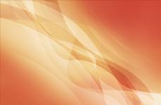 橙色波浪曲线背景