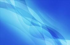 天空蓝线条 波浪曲线