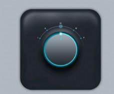 UI界面黑色质感按钮图标设计