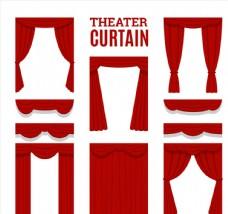 7款红色剧场舞台幕布