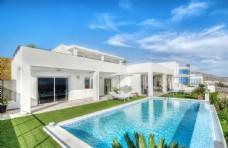 建筑游泳池效果图