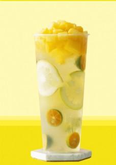 芒果 柠檬青橘水果茶
