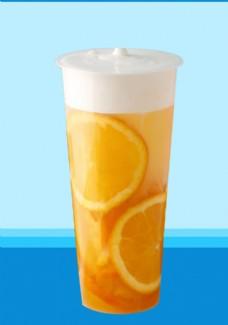 柠檬雪顶奶霜水果茶饮
