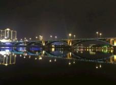 内江夜景西林大桥全景