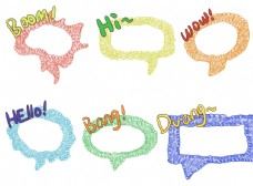 缠绕线圈彩色手账素材对话框