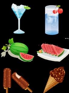 夏季冷饮素材