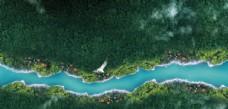 自然 河流  森林