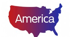 美国地图轮廓