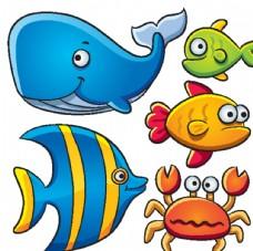 海洋 世界 鱼 鲨鱼 卡通 动
