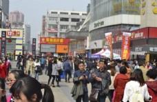 人群  人流   步行街