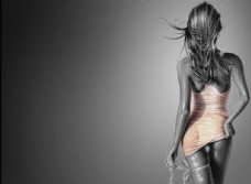 美女身材背影