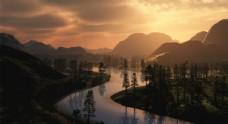 秀丽山水之间风景