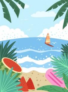 夏季沙滩背景