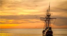 水上孤舟寂静唯美高清美景