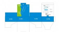 中继器彩盒刀模图展开图包装盒子