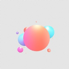 电商彩色圆形立体扁平免抠素材