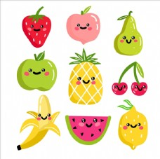 卡通水果集合