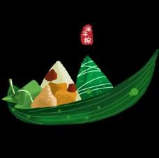 粽叶和粽子印章元素
