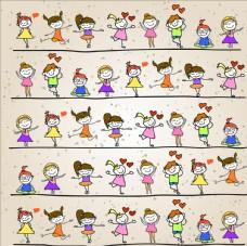 各种卡通女孩
