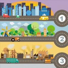 城市交通插画