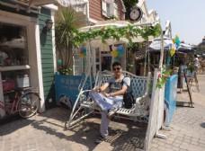 荷兰花卉小镇秋千椅