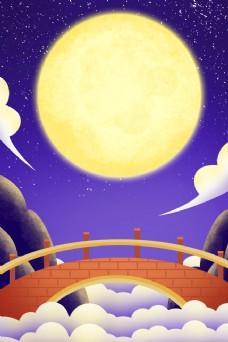 鹊桥背景插画