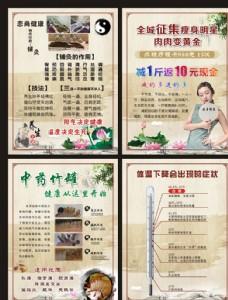 美容养生中国风展板