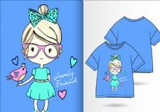 可爱女孩衣服图案