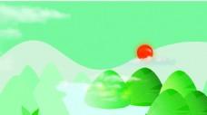 绿色清新背景板