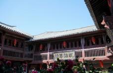 云南大理喜洲古镇的老建筑