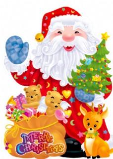 圣诞老人小熊 圣诞树