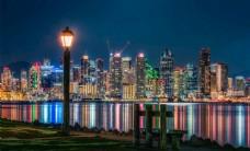 绚丽繁华城市风光