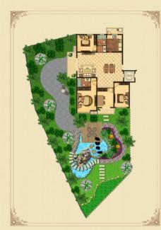 别墅300平米庭院
