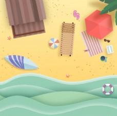 海边冲浪背景