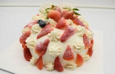 新鲜草莓巧克力裸蛋糕
