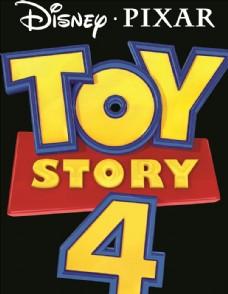 电影玩具总动员4英文标题矢量图