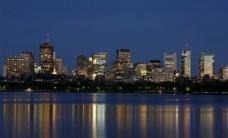 波士顿城市夜景