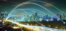 现代城市夜空广告设计背景