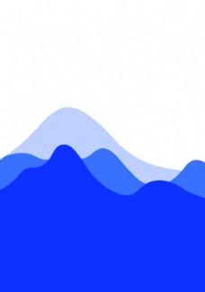中国风山 简笔画山  意境山
