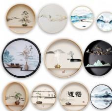 中式禅意壁画