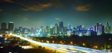 现代城市夜空背景