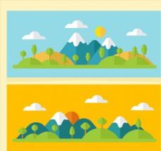 2款美丽雪山风景banner