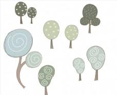 多款特色手绘树