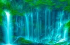 河流 瀑布