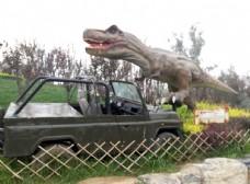 动物园恐龙雕塑